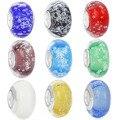 Bolha Colorida Murano Glass Beads Fit Pandora Originais Banhado A Prata Charme Pingente Pulseira Europeu Jóias DIY Fazendo