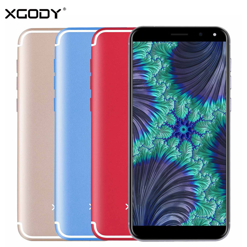 XGODY S12 Smartphone 5.72''IPS 18:9 Face ID 1GB RAM 16GB Android 7.0 Quad Core 8.0MP Fingerprint Telefon Celular 4G Cell Phones
