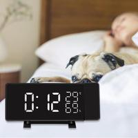 Projection Alarm Clock Digital Date Snooze Function Color LED FM Radio Alarm Projection Clock With Time Projection Projector