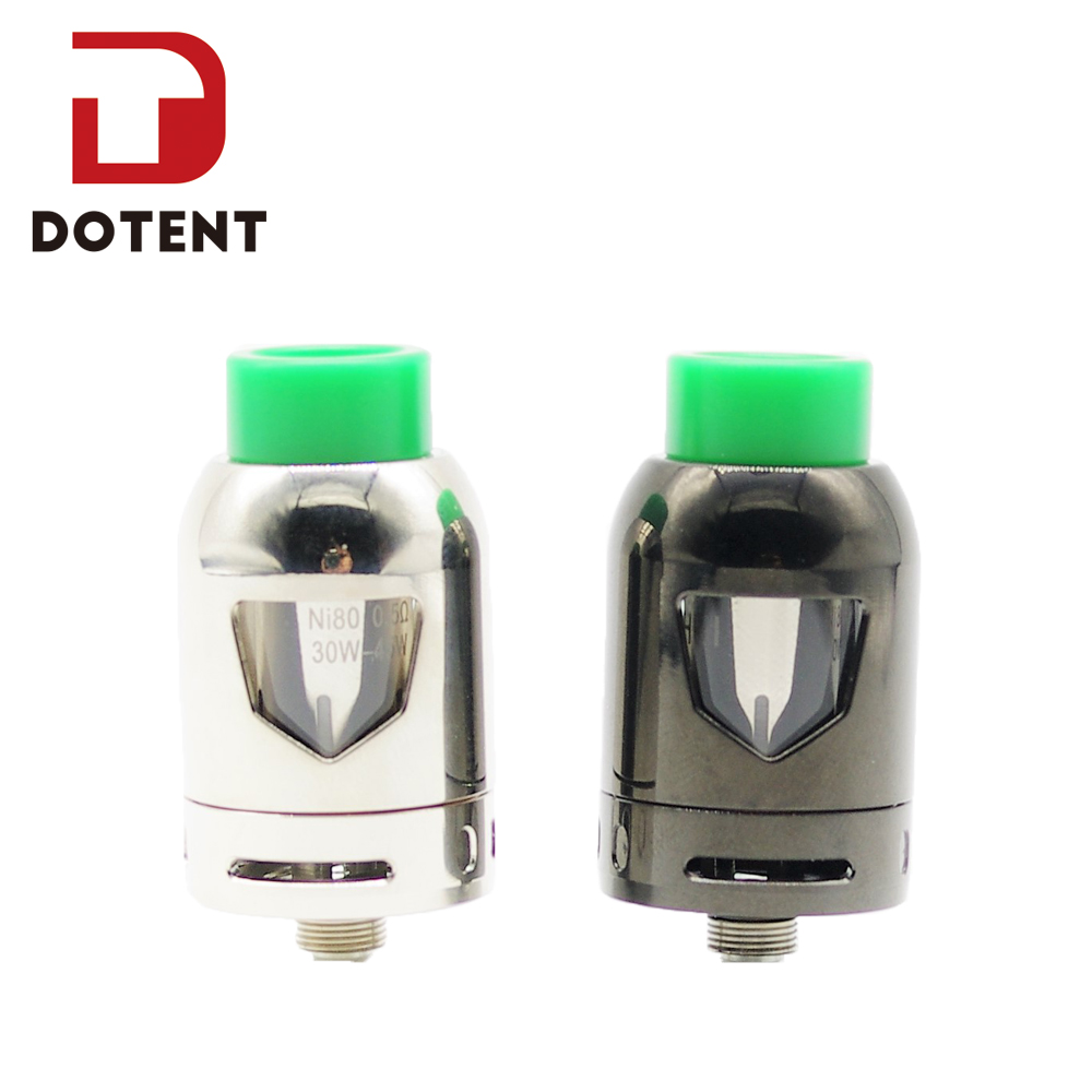DOTENT Bullet Atomizer 2.5ml Capacity 23mm Diameter 510 Thread 0.5ohm Coils Adjustable Airflow Electronic Cigarette Vape Tank