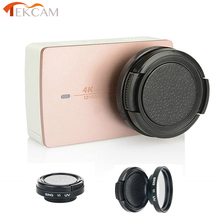 Tekcam For xiaomi yi 4K action sport camera 37mm UV filter lens+lens cap Xiaomi yi 2 4k yi 4k plus xiaomi yi camera Accessories
