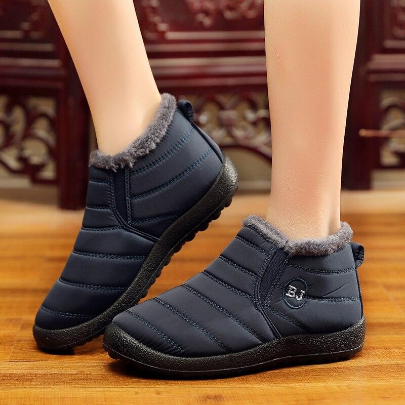 Warm Schnee Schuhe Frauen Plus Winter Botas Mujer Halten Frau Größe 46 Wasserdicht Stiefel Knöchel Mit Fell 35 Weibliche 1lFKcTJ