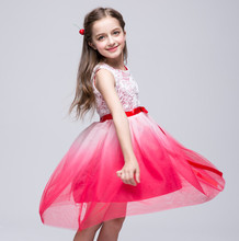 2-8T First Communion Dresses for Girls Multicolor Mesh Princess Dresses for Party and Wedding Bridesmaid  Ball Gowns Prom Frocks