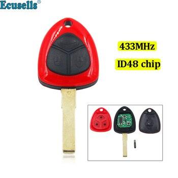 כניסת keyless חכם מרחוק מפתח Fob 3 כפתור 433 MHZ עם ID48 שבב עבור פרארי 458 איטליה קליפורניה 599 GTB FIORANO
