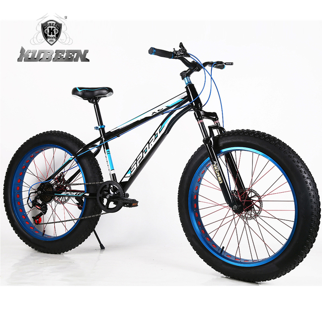 "KUBEEN new arrival 7/21/24/27 speeds Fat bike 26 inch 26x4.0"" Fat Tire Snow Bicycle"