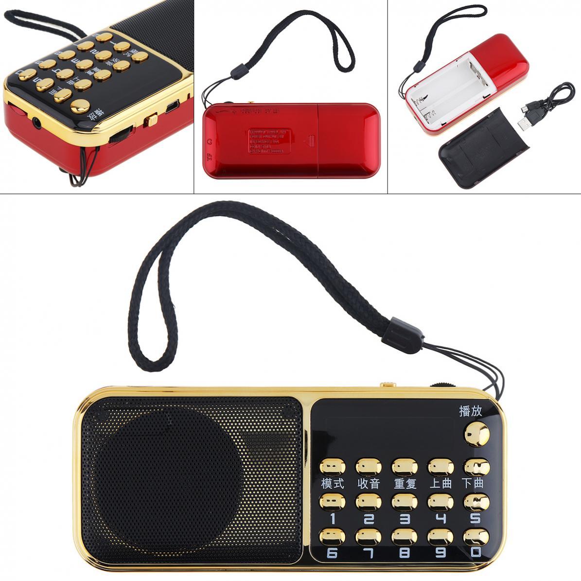 Gutherzig E12 Tragbare Radio Mini Audio Karte Lautsprecher Fm Radio Mit 3,5mm Kopfhörer Jack Für Outdoor/home Radio