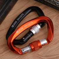 25kN Carabiner Buckle Aluminum Alloy Hook Climbing Camping Outdoor Survival Tool