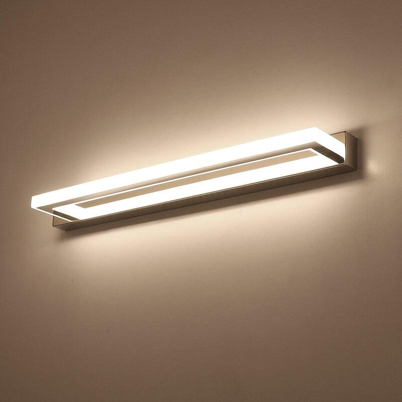 ECOBRT Moderne CONDUIT Salle De Bains Miroir Lumière 9 w 42 cm acier Inoxydable Acrylique Mur Lampe 85-240VAC