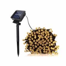 Christmas Lights 50 100 200 Led Solar Power Fairy Light String Strip Lamp Party Xmas White Warm Multi Colors