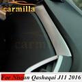 Envío de la Alta calidad ABS Cubierta de papel decoración de Actualización Guantera fundas Para 2014 2015 2016 Nissan Qashqai J11