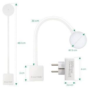 Image 5 - Luz LED de pared con enchufe regulable, lámpara de noche con brazo oscilante y enchufe de salida de potencia de 4W, 350LM, iluminación blanca Natural de 5000K
