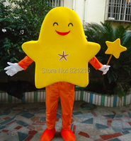 Талисман новый стиль оранжевая звезда костюм талисмана рыбы гардероб символ «Герой мультфильма» костюм для Хэллоуина