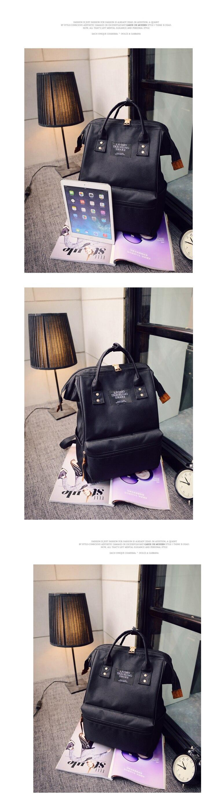 Fashion Backpack High-capacity Knapsack Women Backpack Pure Color Teenager Backpack Female Bag Mochila Bagpack Shoulder Bag 2019