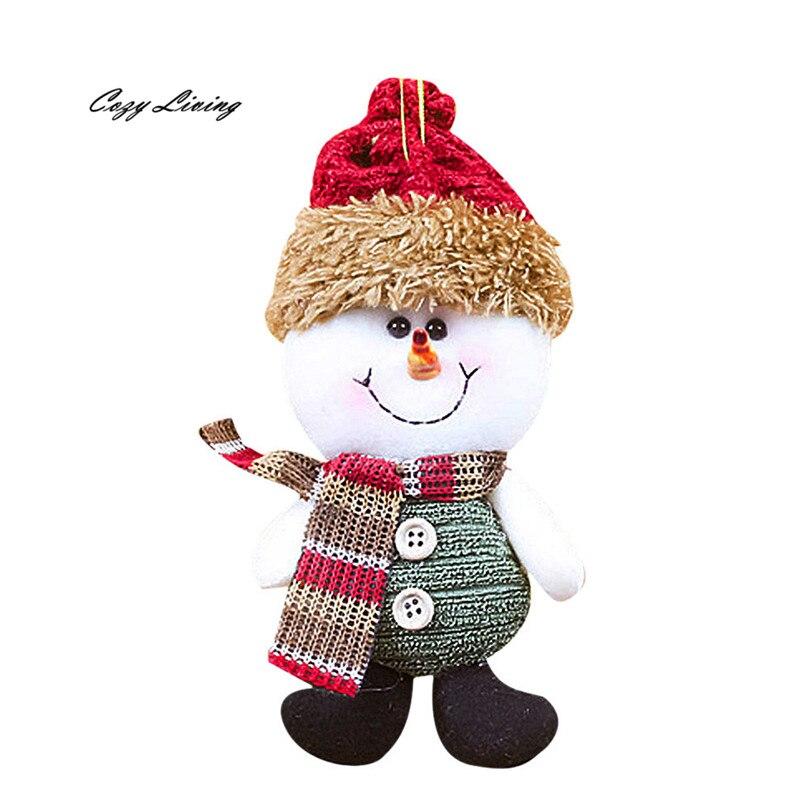 ⃝Navidad muñeco decoración inicio partido Santa Claus 1 unid ...