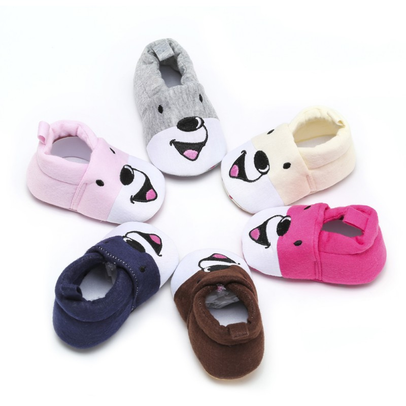 Cartoon Puppy Printed Cotton Shoes Baby's Pedal Shoes Softsole Baby's Walking Shoes New First Walkers Spring Autumn