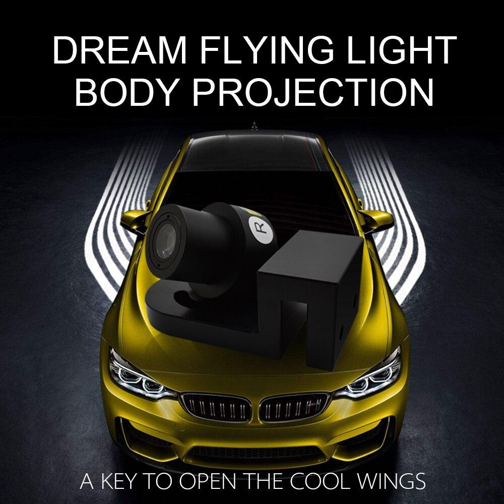 LDRIVE автомобильный Стайлинг Водонепроницаемый 8 36 в 5 Вт крутой Летающий сон анти столкновение автомобильный лазерный противотуманный свети