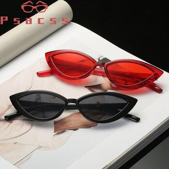 Psacss Cat Eye Vintage Sunglasses Women Female Luxury Brand Designer High Quality Rainbow Colorful Eyewear Oculos De Sol Gafas