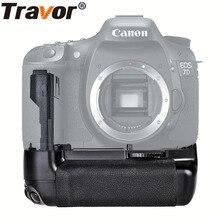 Travor Multi power vertical aperto da bateria para Canon 7D DSLR Camera trabalhar com a bateria LP-E6 substituição BG-E7
