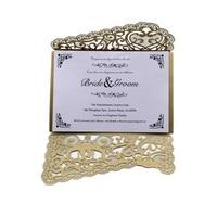 14 pcs Convites De Casamento Produtos Do Casamento Europeu Oco Rendas Decoração de Casamento Cartão Convites Criativos 6ZXH06