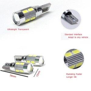 Image 4 - 100 sztuk T10 Canbus 10SMD 5630 5730 wolne od błędów Auto LED lampy W5W wewnętrzne Canbus światła