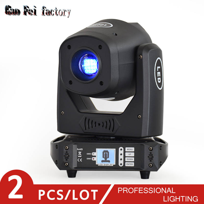 Light Dj Led Moving Head 100W DMX Spot Head Gobo With Color Prism For Led Bar Moving Head Lights For Sale (2pcs/lot)