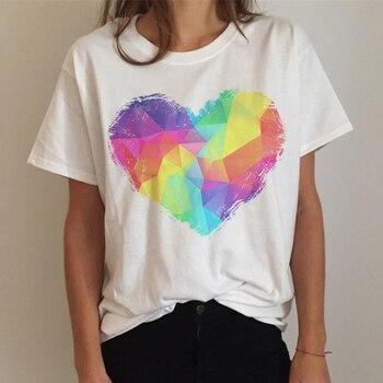 Lgbt T Shirt Women Gay Pride Shirt Lesbian Rainbow T-shirt Harajuku Ullzang Funny Tshirt 90s Graphic Love Is Love Top Tee Female 13