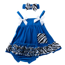 Newborn Girl Dresses Sweet Spring/Summer Baby Party Dress for 6-24M Cotton Sleeveless Bow Bud