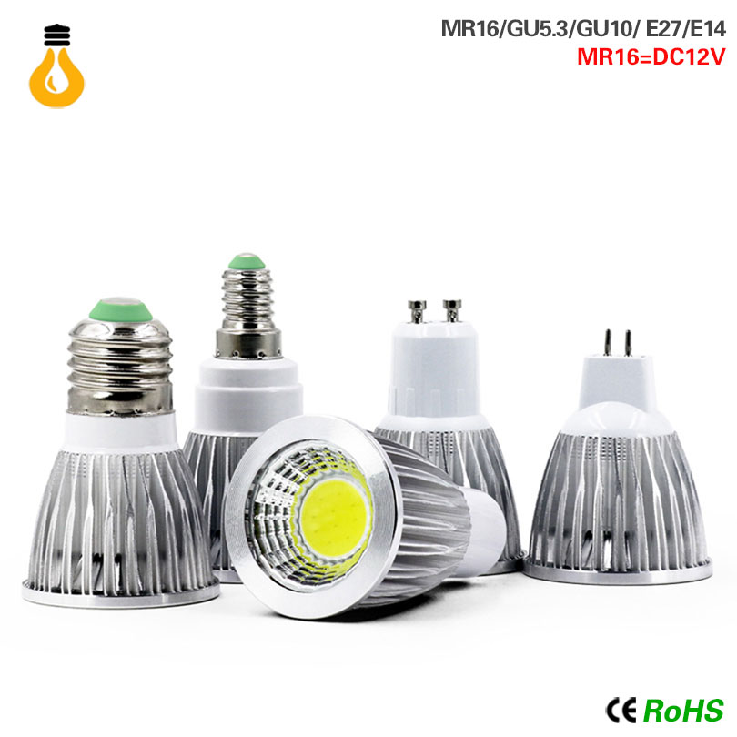 E14 Bombillas GU10 GU5.3 COB Led Lampada 220V 9w 12w 15w Lampen MR16 12v E14 Led Bulb E27 Led Lamp Spotlight Table Lamps Light
