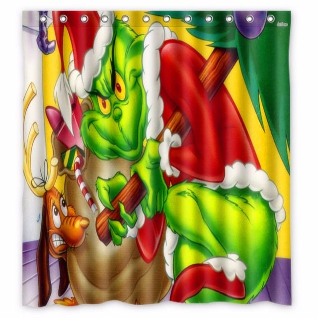 66 X72 Inch How The Grinch Stole Christmas Shower Curtain