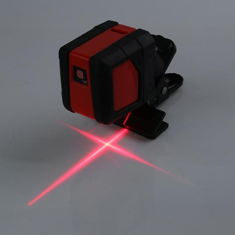 Mini Style Cross-Line Nivel Laser Two Lines Laser Level Self Leveling Infrared Horizontal Vertical Red Light Source Laser Level kapro high precision infrared level laser line investment line instrument electronic scale level bubble magnetic wrist strap