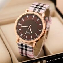 Free Shipping 2016 New Fashion Quartz Watch Women Vintage Scottish Tartan Watches Luxury Bracelet wristwatch Casual W050