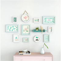 Decorative Wooden Wall Frames Set Wall Hangings Picture Frames Sets Wall Frame for Picture Living Room Family Pictures 11 Pieces