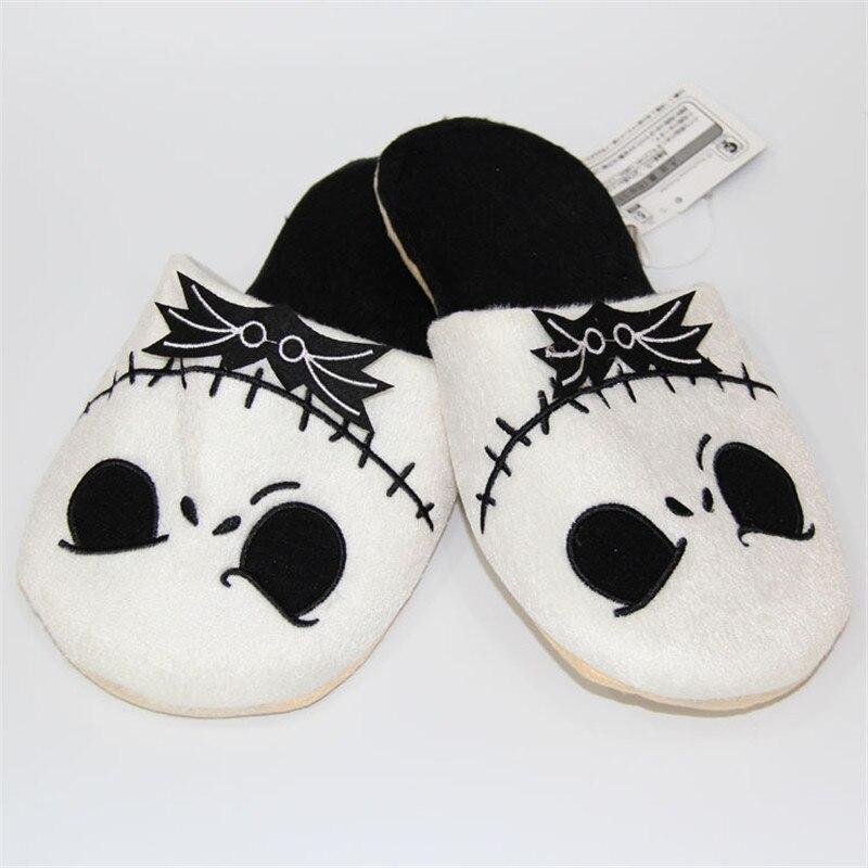 Halloween Fantôme Chaudes Superbe Bande Dessinée À Sk La Pantoufles Slip Respirant Peluche Noir Maison Slipper Jack En 9IeHYWED2