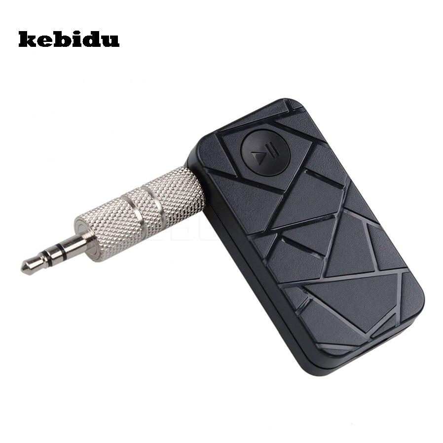 Kebidu Hands Free Wireless 4.1 Bluetooth Audio Music Receiver Adapter 3.5mm Stereo A2DP Car Kit