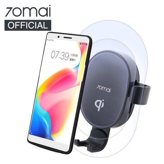 70mai Qi Car Wireless Charger For iPhone Xs Max XR X Samsung Intelligent Sensor Fast 70 mai Wirless Charging Car Phone Holder