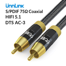 Unnlink HIFI 5.1 SPDIF Coaxial Audio Cable RCA AV Cable DTS 2m 3m 5m 8m 10m for TV Soundbar DVD Amplifier Speaker Wire Subwoofer цена 2017