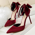 Mulher Bombas Mulheres Sapatos Com 10 cm de Salto Alto Primavera Verão Mulheres Ocas Sandálias de Salto Stiletto Roseta Chaussures Femme 5196 -1