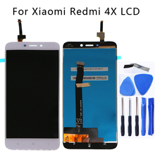5.0 بوصة ل xiaomi redmi 4x شاشة الكريستال السائل + محول الأرقام بشاشة تعمل بلمس استبدال ل xiaomi redmi 4x شاشة عرض LCD إصلاح أجزاء