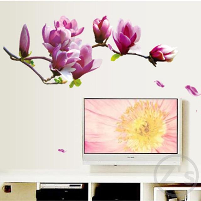 Buy flowers sakura fairy wall sticker for Poster mural zen deco