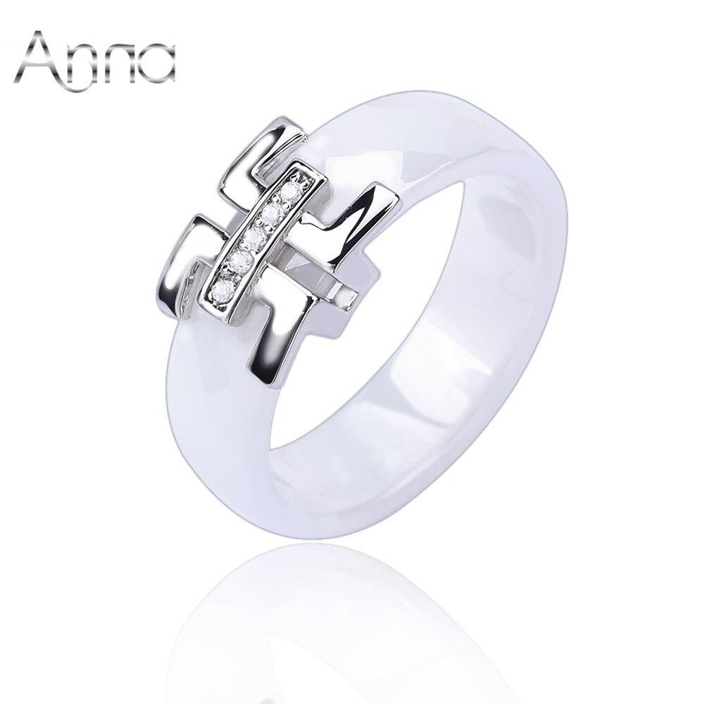 A&n 2016 Cheap Women Finger Ceramic Rings Engagement Wedding Rings For  Women Cubic Zirconia Silver Female Rings