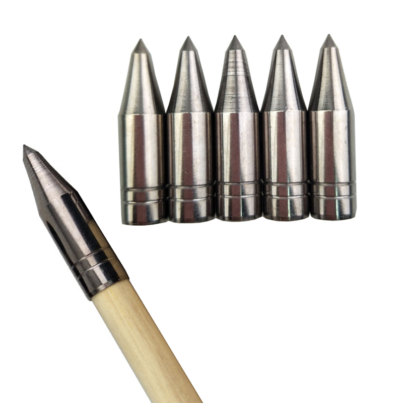 12pcs Target Broadhead 8mm Field Arrow Tips Point Archery