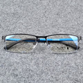 Gentlemen Fashion Eye Glasses Male Blue Half Rimmed Optical Glasses Frame