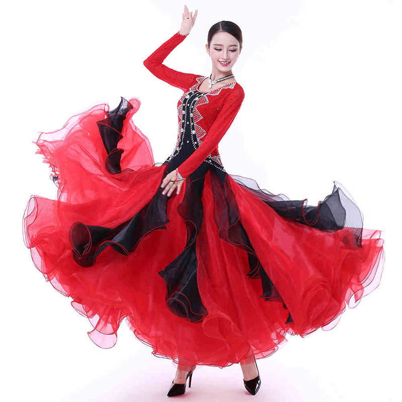 1242bfd3760a 2019 Ballroom Competition Dance Dresses New Arrival Long Sleeve ...