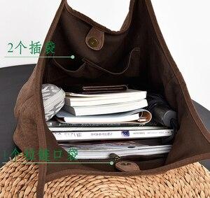 Image 4 - Французская шикарная тканевая сумка с ручками сверху, 2020, Женская Повседневная Сумка тоут, Женская вместительная сумка большого размера, Женская Повседневная сумка для подгузников, сумка шоппер