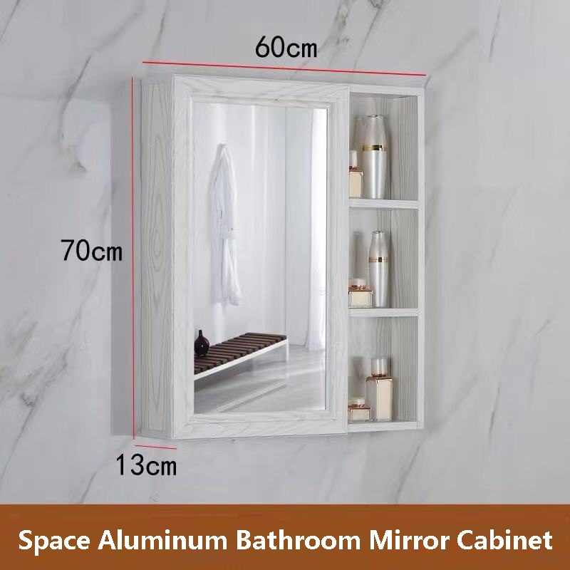 Free shipping U-BEST High quality space aluminum cabinet bathroom cabinet home center mirror bathroom cabinet