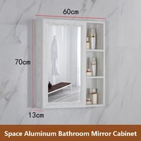 Free shipping U BEST High quality space aluminum cabinet bathroom cabinet home center mirror bathroom cabinet