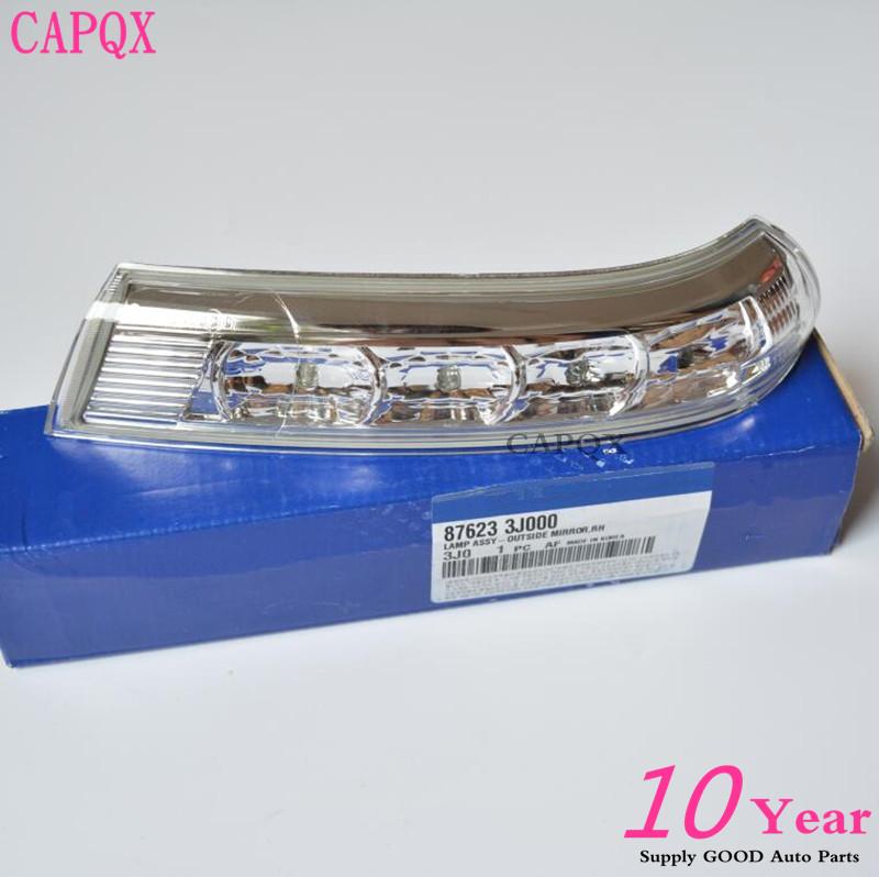 Prix pour Véritable Origine side miroir LED clignotants lumière lampes pour Hyundai Santa Fe, Santafe Veracruz IX55 2007 2009 2012 Gauche et Droite