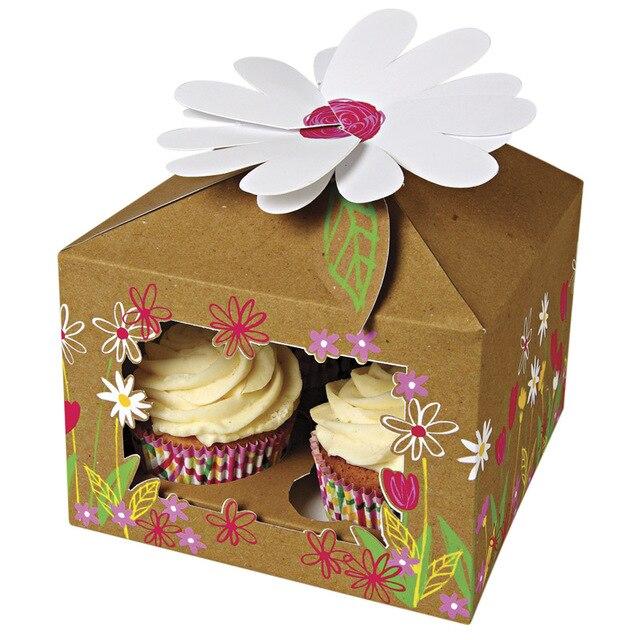 Decorative Cupcake Boxes Endearing New Cupcake Box Wedding 15*15*20Cm Kraft Paper Four Cake Box For Decorating Inspiration