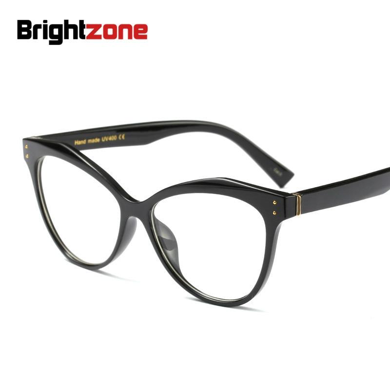 Brightzone Men Women European Popular Full Rim Spectacles Eye Frame Round Face Myopia Hyperopia Plain Glasses Eyeglasses