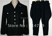 WW2 GERMAN ELITE M32 BLACK WOOL TUNIC & BREECHES IN SIZES 31949